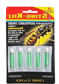 Sting-kill Disposable Swabs, 5 Count