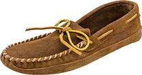 Men's Minnetonka Moccasins Lariat Leather Double Bottom