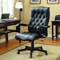 Office Star Dixon Executive Chair with Thick Padded Black