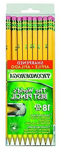 Ticonderoga Wood-Cased Graphite Pencils, 2 HB Soft, Pre-