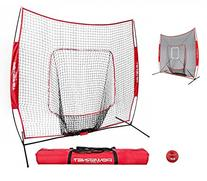 PowerNet DLX 7x7 Baseball Softball Hitting Net + Weighted