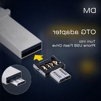 DM USB to Micro USB Male OTG Adapter - SILVER for USB Stick