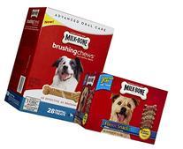 Milk-Bone Medium Dog Bundle - Flavor Snacks + Brushing Chews