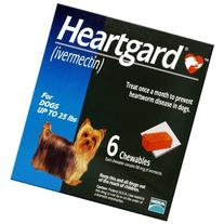Dog Heartgard Chewables 6pk Blue 1-25 lbs by MERIAL
