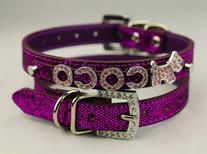 Namsan Dog Puppy Cat Pet Leather Collars Bling Rhinestone