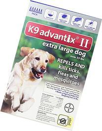 Dog Supplies K9 Advantix Ii Blue 4Ml 55Lb And Over 6Pk