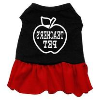Dog Supplies Teachers Pet Screen Print Dress Black With Red
