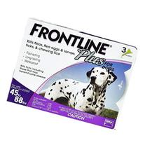 Frontline Plus for Large Dogs 45-88 lbs Purple 12 MONTHS