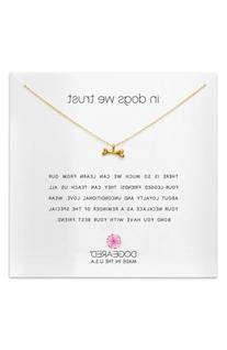 Women's Dogeared In Dogs We Trust Pendant Necklace