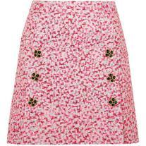 Dolce & Gabbana Embellished metallic jacquard mini skirt