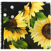 Dolce & Gabbana - sunflower polka dot scarf - women - Cotton