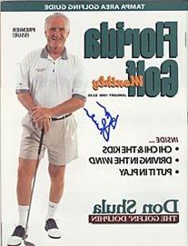 Don Shula Autographed / Signed January 1999 Florida Golf