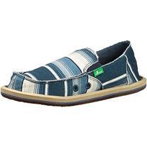 Sanuk Kids Donny Boys Sidewalk Surfer Shoe , Blue Poncho