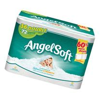 Angel Soft Toilet Paper, 12 Double Rolls, 12 = 24 Regular