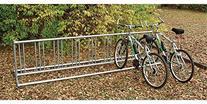 Double Entry Bike Rack : Holds 9 bikes