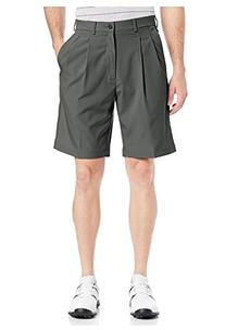 PGA TOUR  Double Pleated Golf Shorts 36, Silver Mink