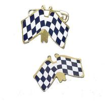 US Toy - Double Racing Flag Pins