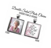 Double Sided Custom Photo Wedding Bouquet Square Charm with