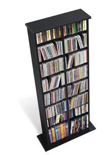 DoubleWidth Media Storage Tower Black