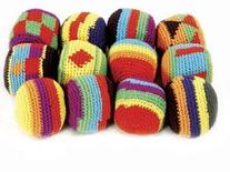DOZEN  Assorted Hackey Sacks/HACKY/Foot Bags/KICK Balls