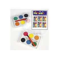 Dozen Mini Kids Watercolor Paint Sets with Brush