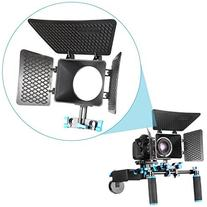 DP500 DSLR Matte Box For 15mm Rail Rod Suppot Focus Rig 60D
