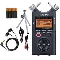 Tascam DR-40 Digital Audio Recorder Bundle - Tripod, Earbuds