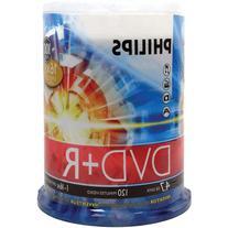 Philips DR4S6B00F/17 4.7GB 16x DVD+Rs, 100-ct Cake Box