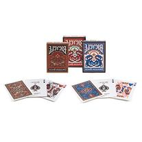 Bicycle Dragon Back Playing Cards 3 Deck Set 1 Gold, 1 Blue