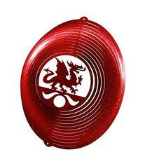 DRAGON CIRCLE Swirly Metal Wind Spinner
