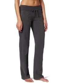 Danskin Women's Drawcord Pant, Charcoal Heather, Large