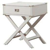 Inspire Q 1 Drawer Accent Table with X Leg