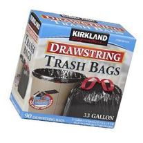 Kirkland Signature Drawstring Trash Bags - 33 Gallon - Xl
