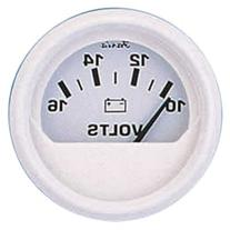 Faria Dress White Series Voltmeter
