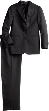 Perry Ellis Big Boys' Dresswear Suit, Black, 14