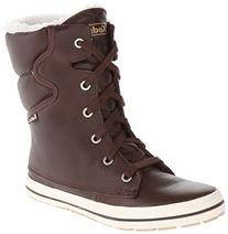 Keds Women's Droplet Leather Snow Boot, Brown, 6.5 M US