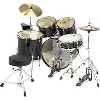Sound Percussion 5-Piece Drum Set Black