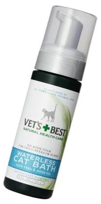 Vet's Best Dry Clean Waterless Cat Bath Foam, 4oz
