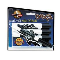 EXPO Dry Erase Markers, Chisel Tip, Black, 4/Pack