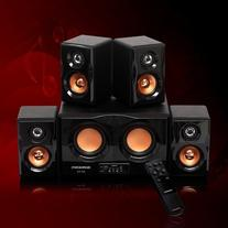 Durherm DS-R4 Dual Woofer Piano Finish Home Theater/PC/