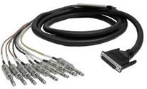 Hosa DTP802 Snake Cable DB25 To 8 x TRS 6.6Ft DB25 to TRS