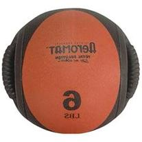 Dual Grip Power Medicine Ball, Black / Red