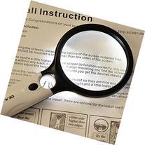 Idealeben Dual-Lens 3x, 45x Zoom Handheld Magnifying Glass
