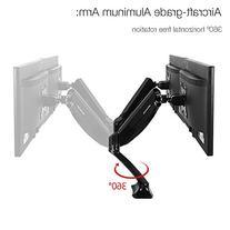 "FLEXIMOUNTS Dual Arm Desk Monitor Mount Fits Most 10""-27"""