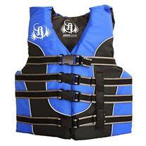 Full Throttle Adult Nylon Water Sports Vest, Blue
