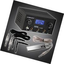 GotHobby Pro Digital Dual Tattoo Machine Power Supply Kit w