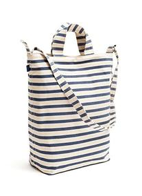 BAGGU Duck Bag Canvas Tote - Sailor Stripe