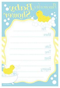 Duck Baby Shower Invitations - Fill In Style  With Envelopes