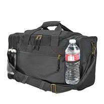 "DALIX 17"" Duffle Travel Bag Front Mesh Pockets in Black"