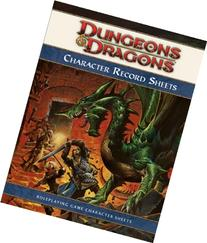 Dungeons & Dragons Character Record Sheets: Roleplaying Game